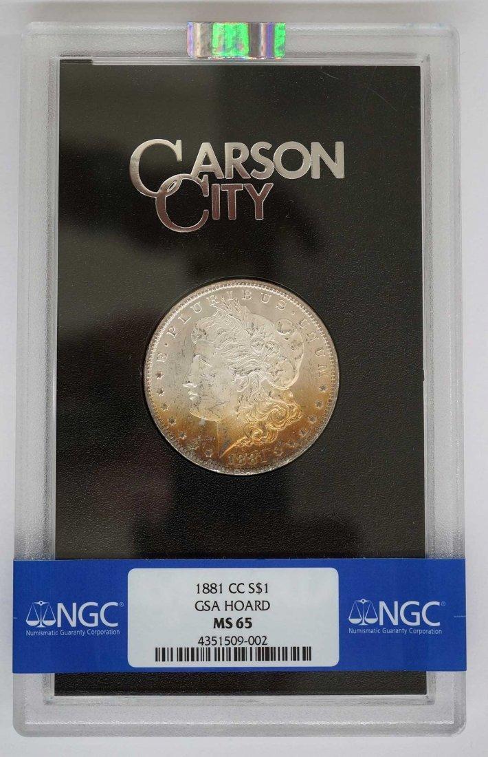 1881-CC GSA Morgan Dollar. NGC Banded MS65 w/Box and