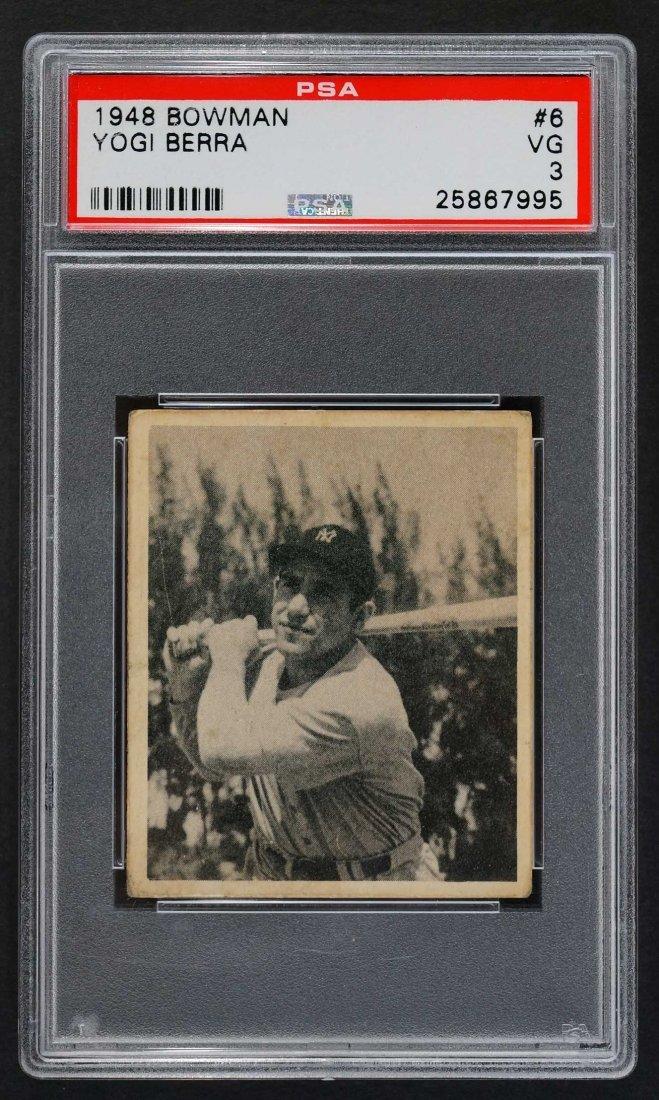 1948 Bowman #6 Yogi Berra (PSA 3 VG)