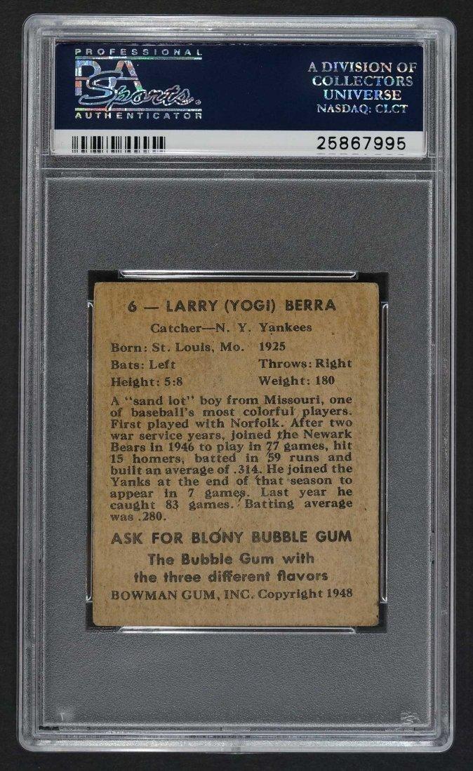 1948 Bowman #6 Yogi Berra (PSA 3 VG) - 2