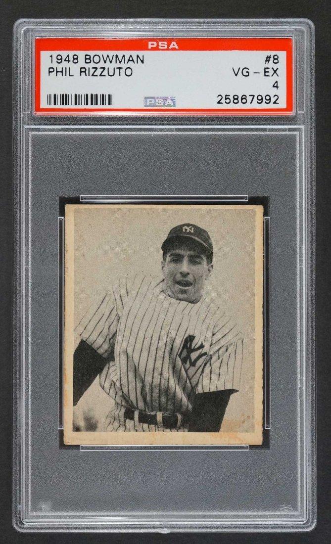 1948 Bowman #8 Phil Rizzuto (PSA 4 VG/EX)