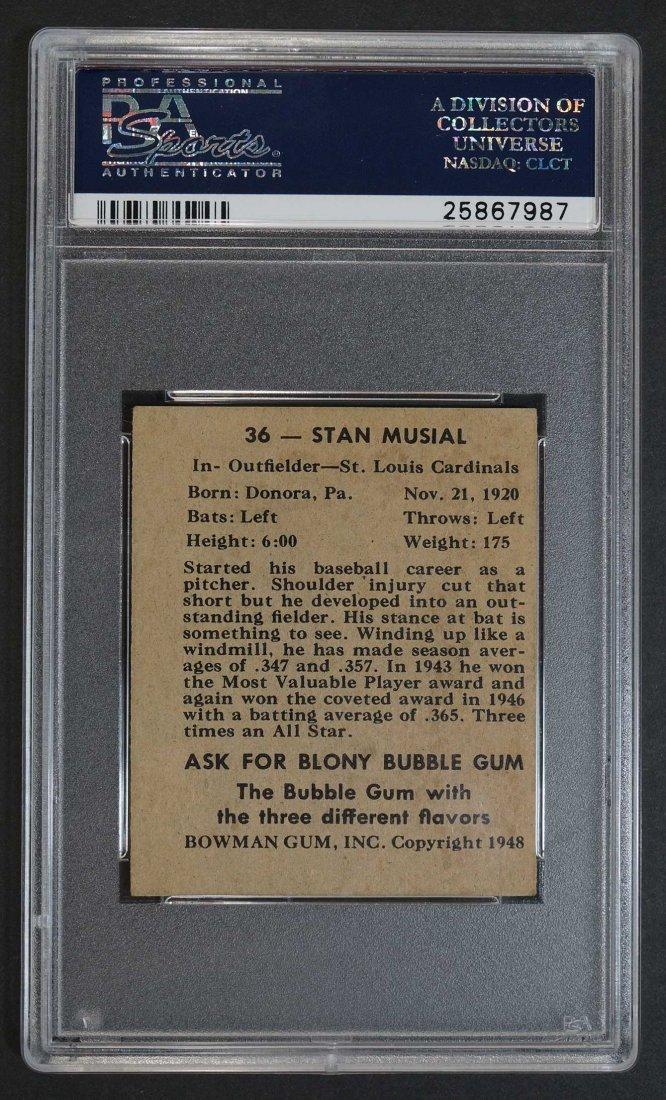 1948 Bowman #36 Stan Musial (PSA 5 (MC) EX) - 2