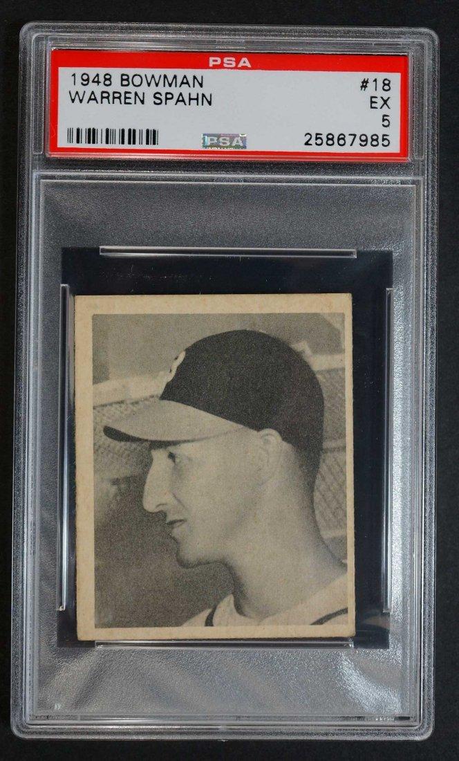 1948 Bowman #18 Warren Spahn (PSA 5)