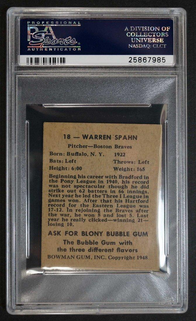 1948 Bowman #18 Warren Spahn (PSA 5) - 2