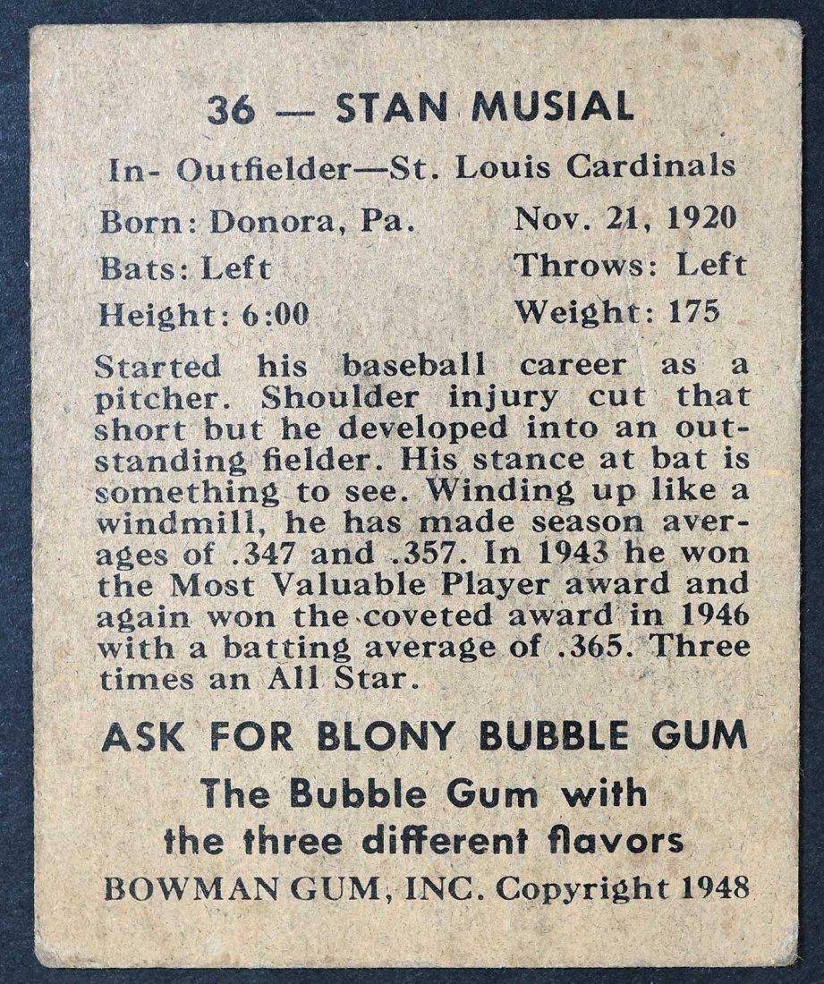 1948 Bowman Stan Musial (VG) - 2