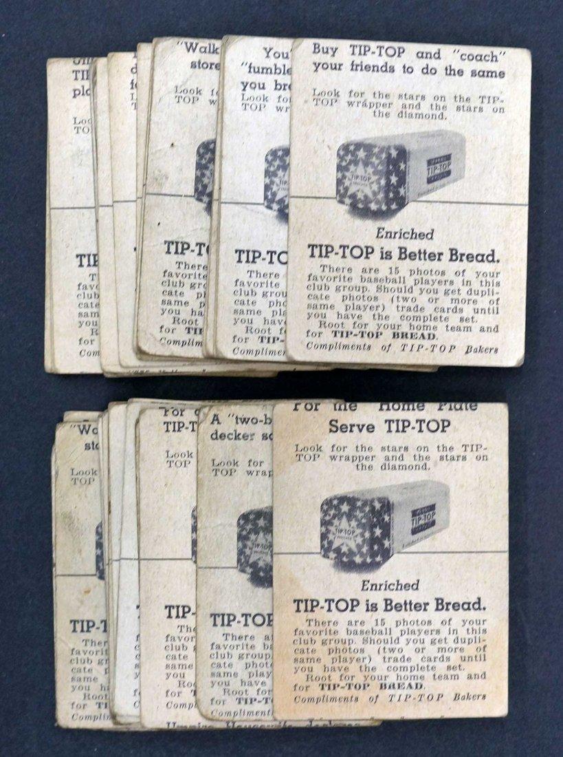 1947 Tip Top Bread Baseball Card Premiums (32). - 2
