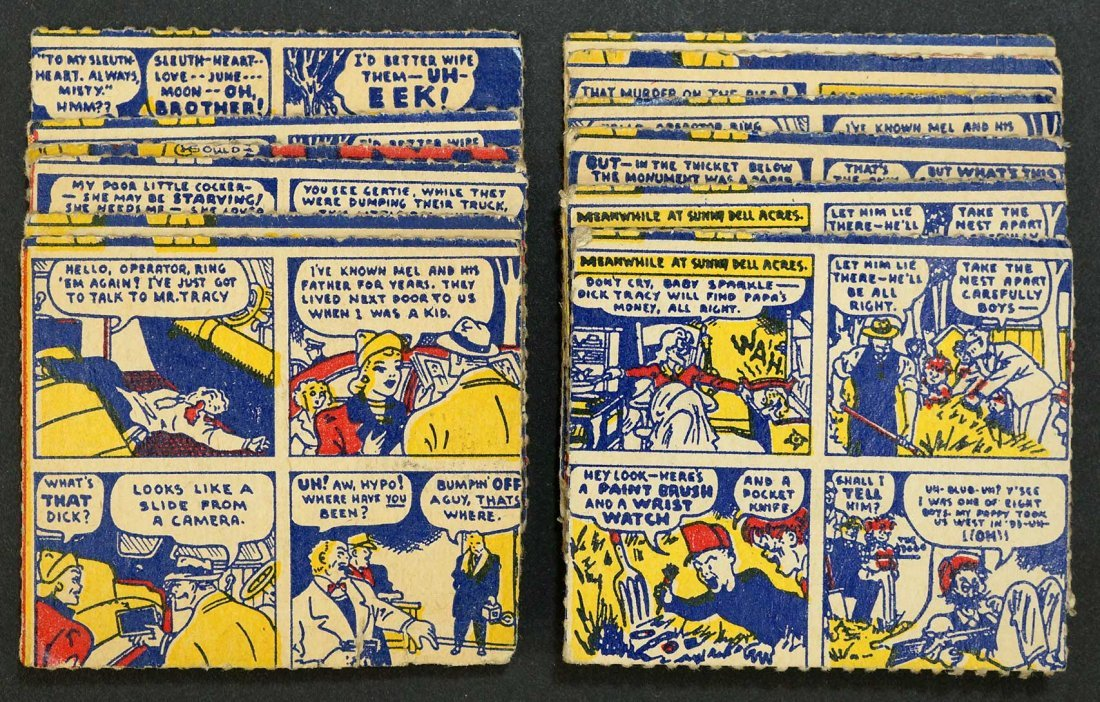 1950 Dick Tracy Candy Box Cards (13). Condition ranges