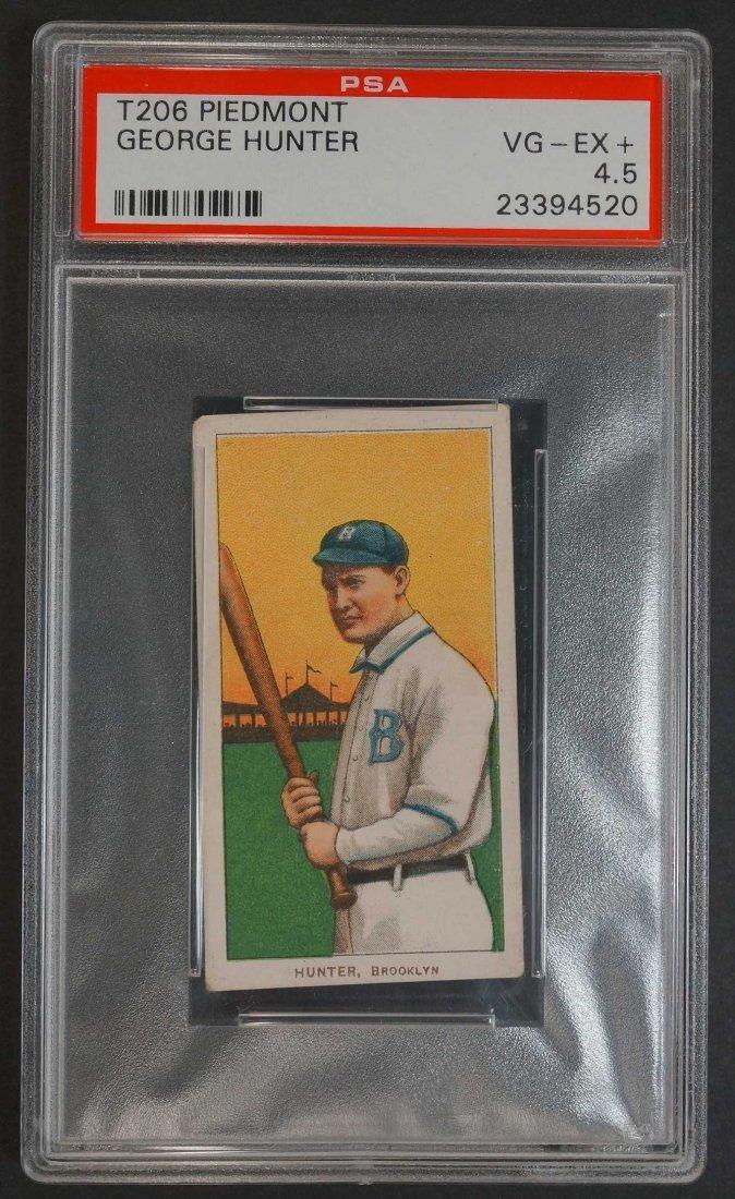 1909-11 T206 George Hunter Tobacco card. Piedmont back