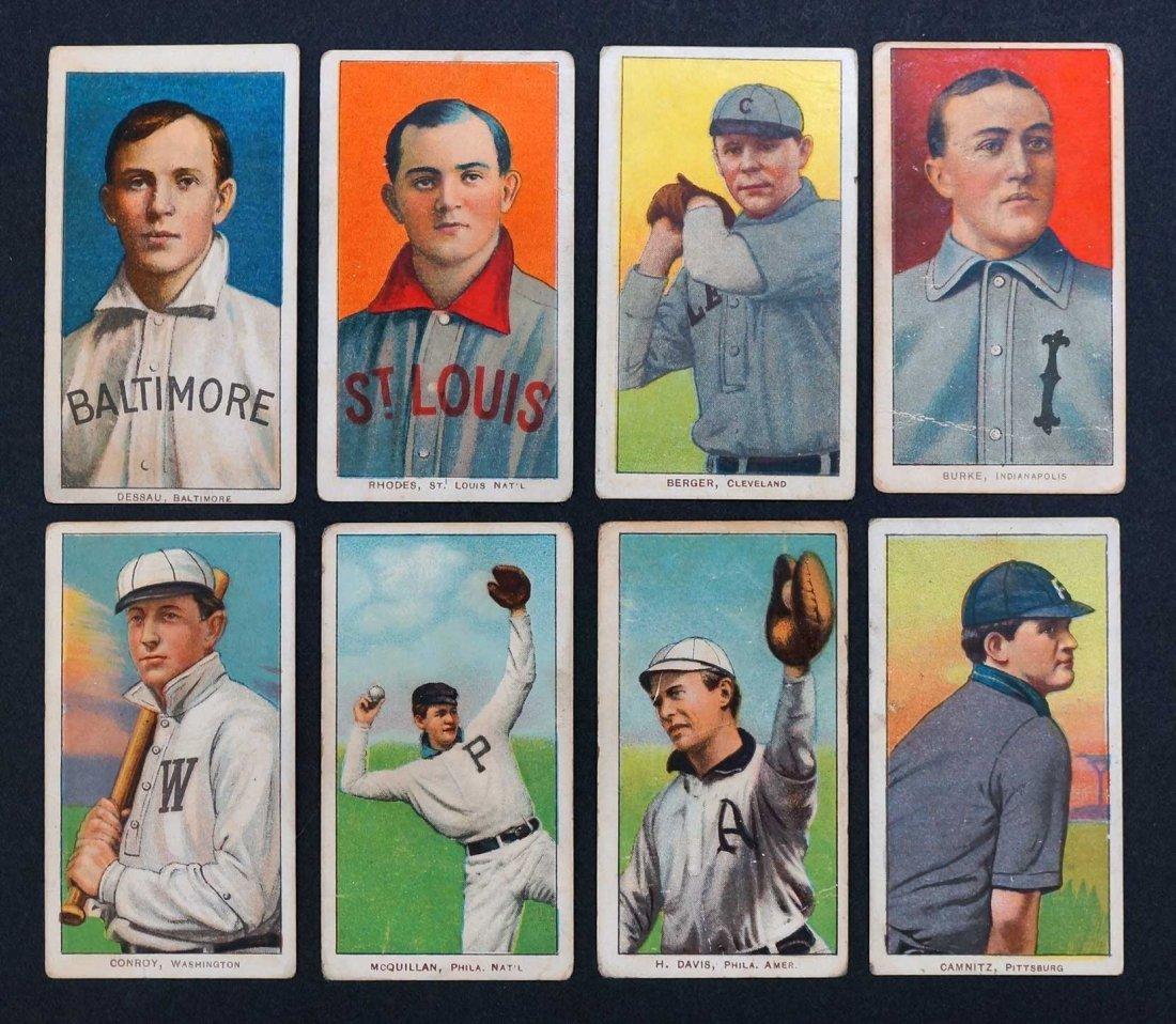 1909-11 T206 White Border Baseball Cards Group of (8).