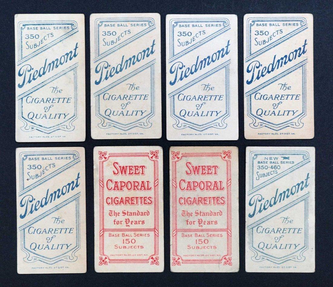 1909-11 T206 White Border Baseball Cards Group of (8). - 2