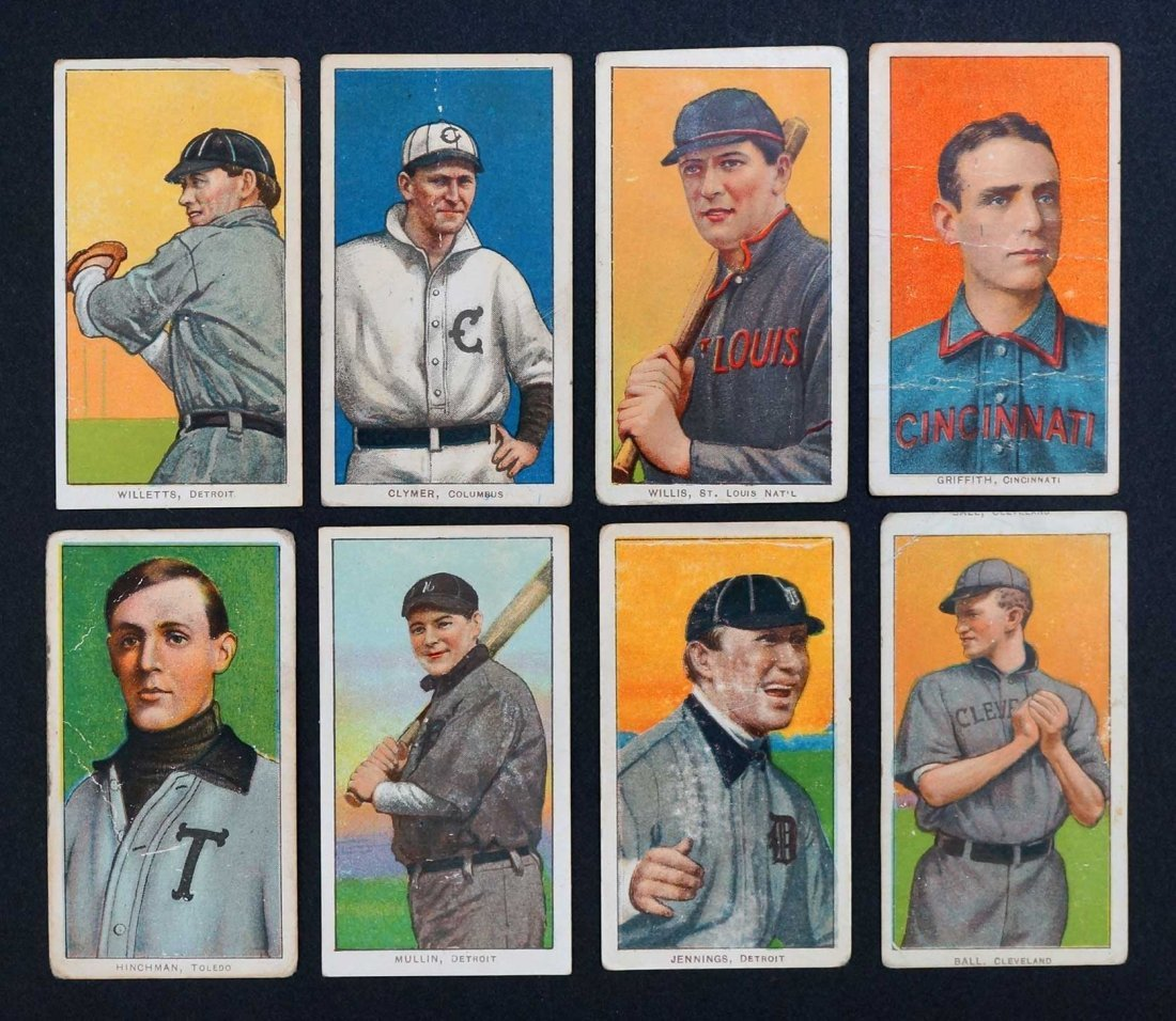 1909-11 T206 White Border Baseball Cards Group of (8).