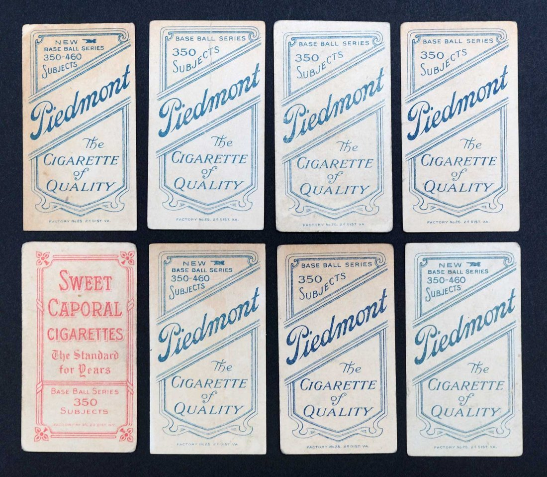 1909-11 T206 White Border Baseball Cards Group of (8). - 2
