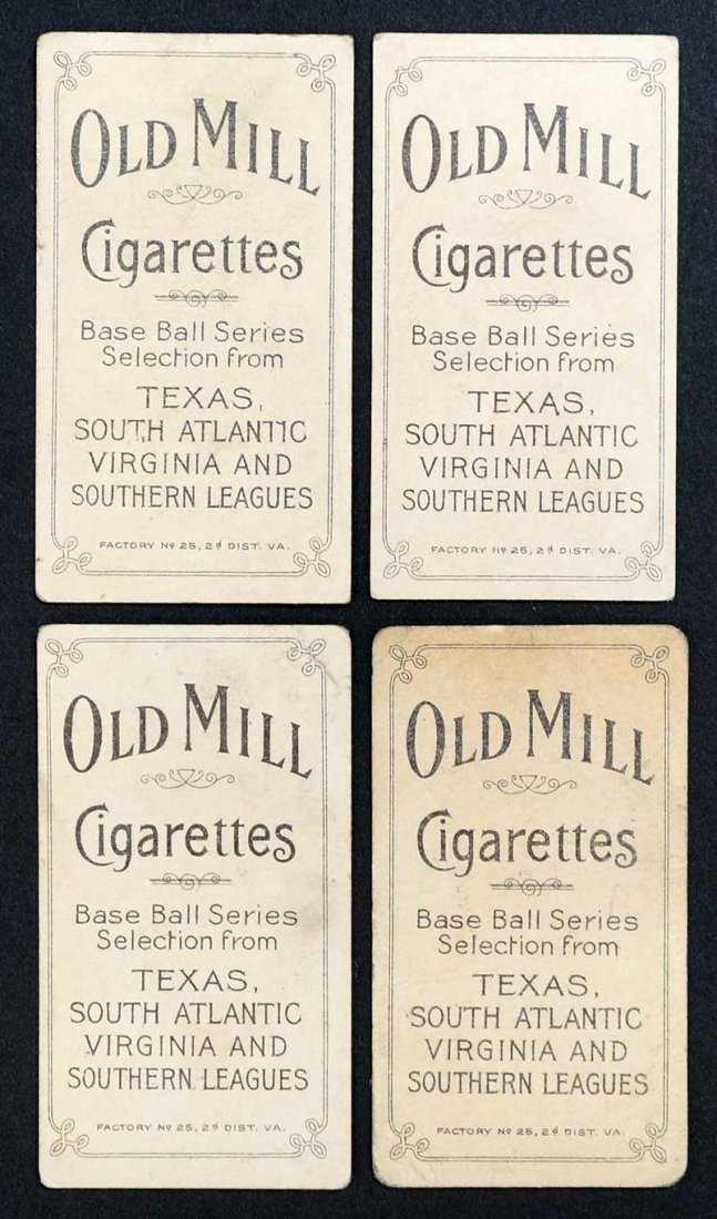 1909-11 T206 White Border Southern League Cards, Old - 2