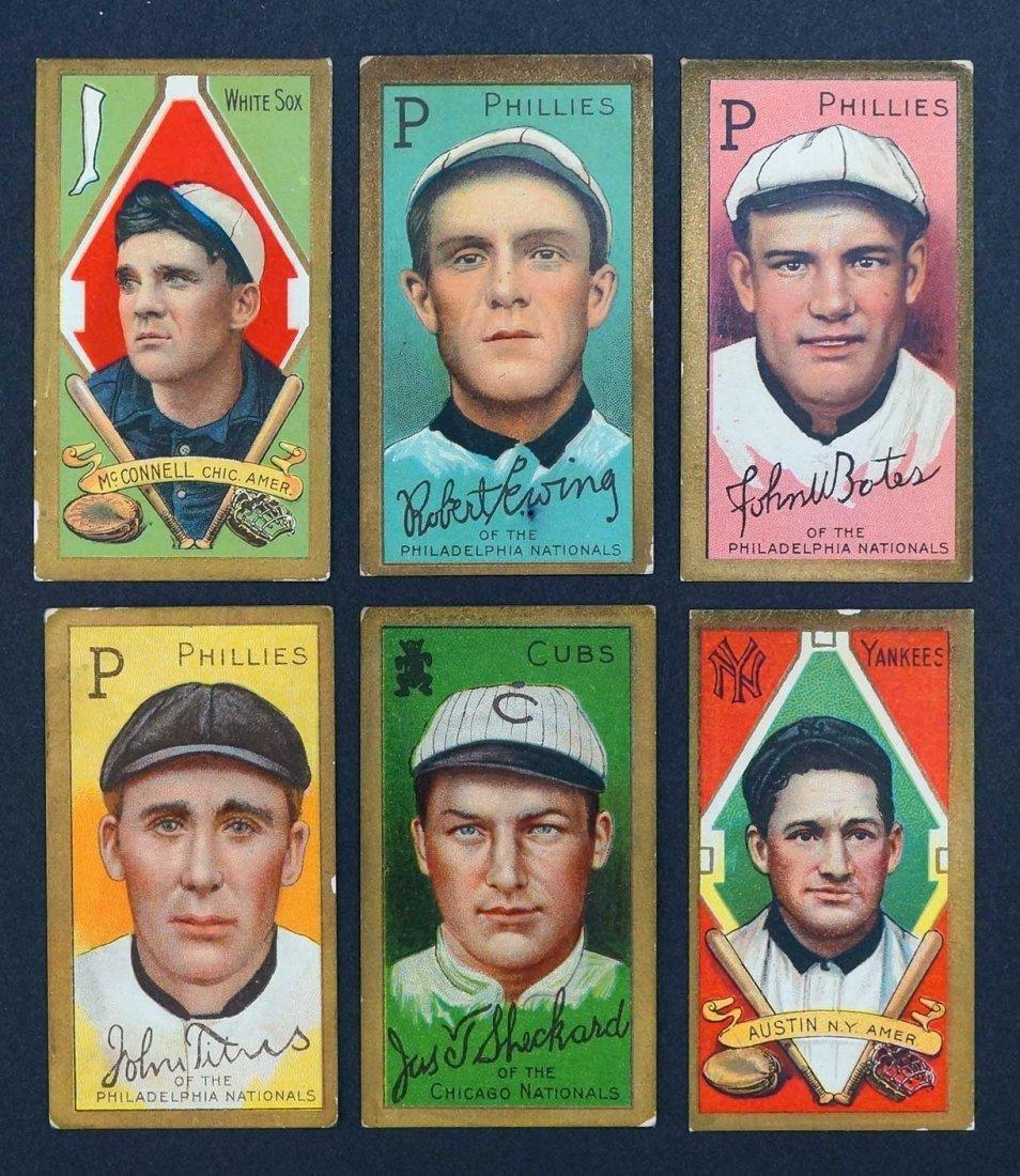 1911 T205 Gold Border Group of Baseball Cards (6).