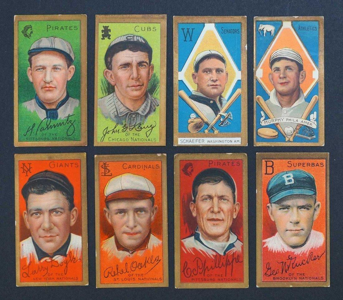 1911 T205 Gold Border Group of (8) Baseball Cards.