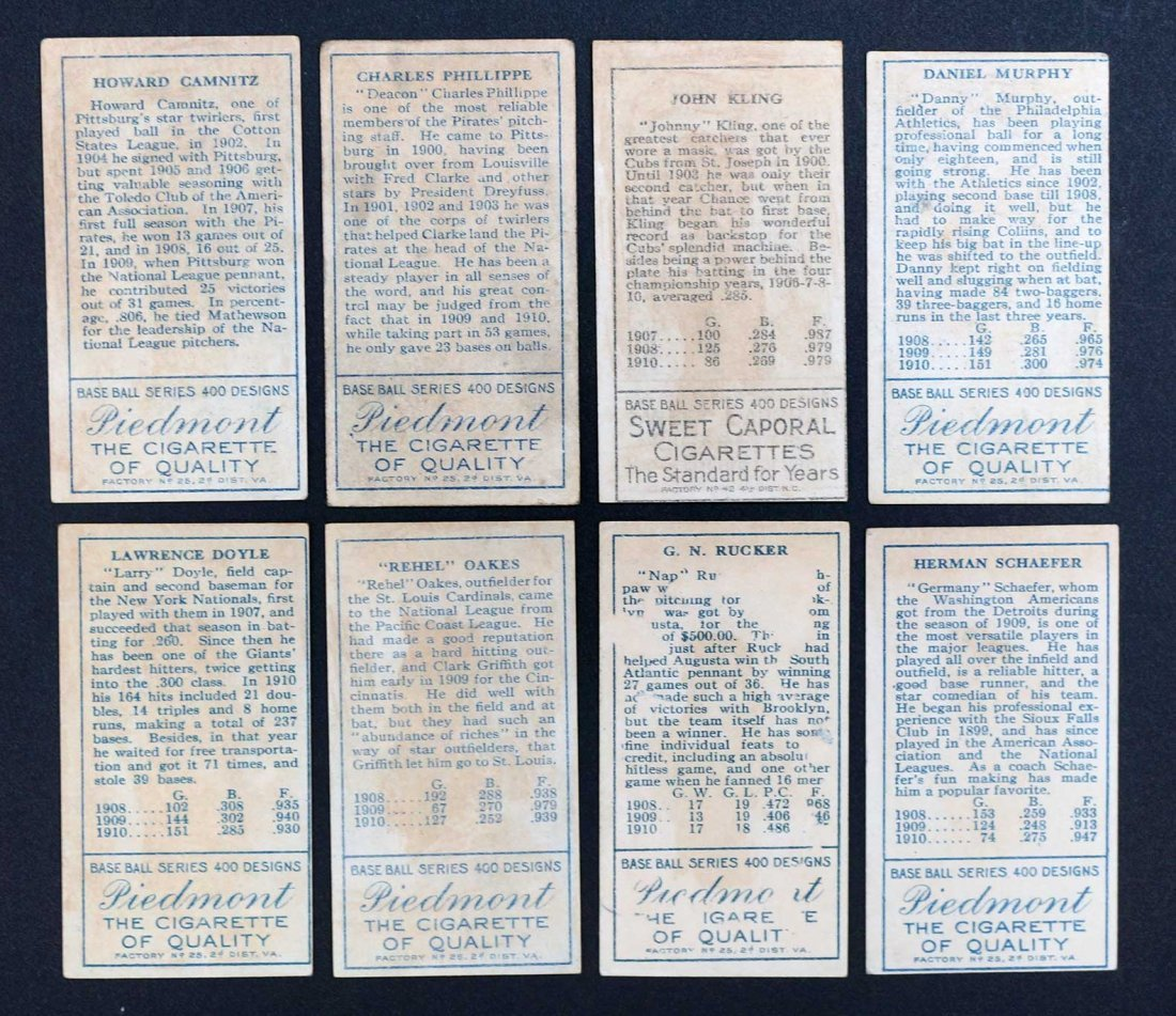 1911 T205 Gold Border Group of (8) Baseball Cards. - 2