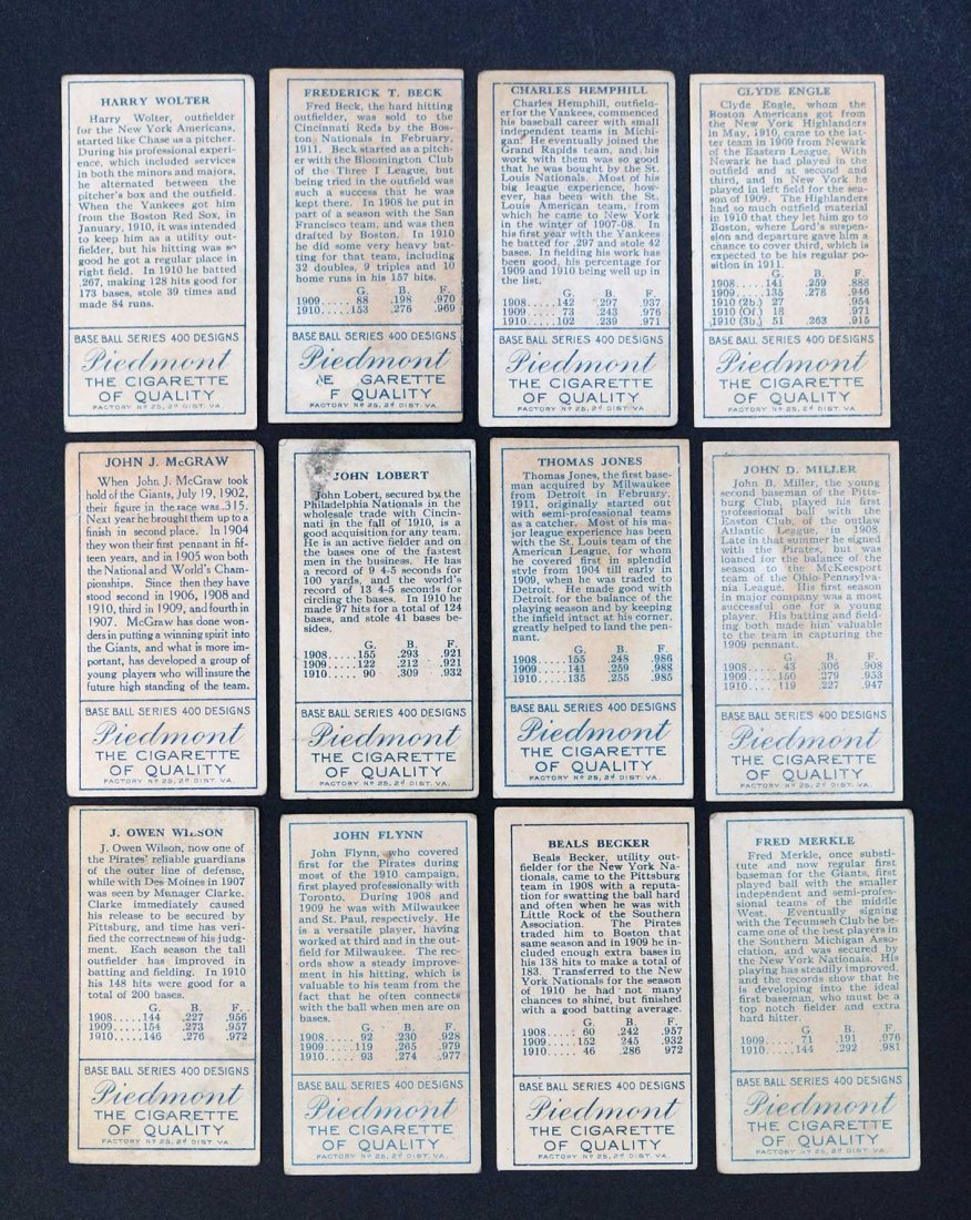 1911 T205 Gold Border Group of (12) Baseball Cards. - 2