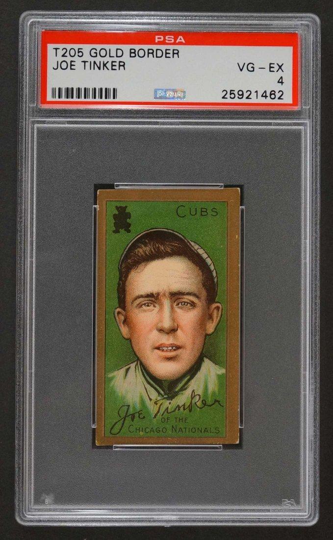 1911 T205 Gold Border Joe Tinker (PSA 4) Provenance: