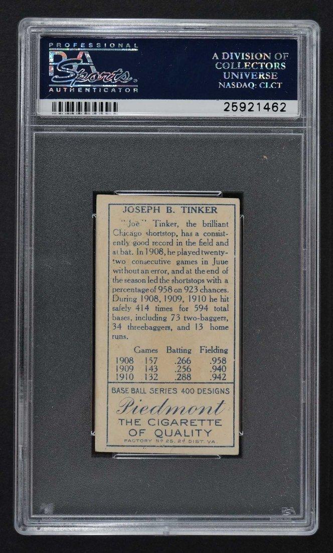 1911 T205 Gold Border Joe Tinker (PSA 4) Provenance: - 2