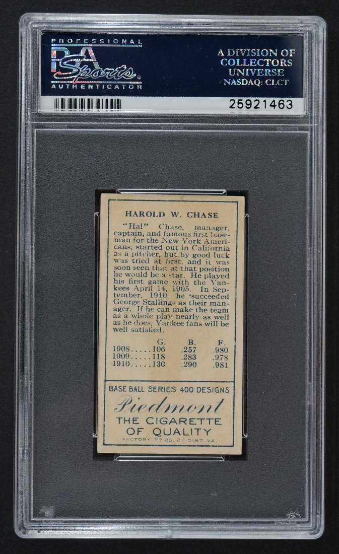 1911 T205 Gold Border Hal Chase Both Ears, Border Ends - 2