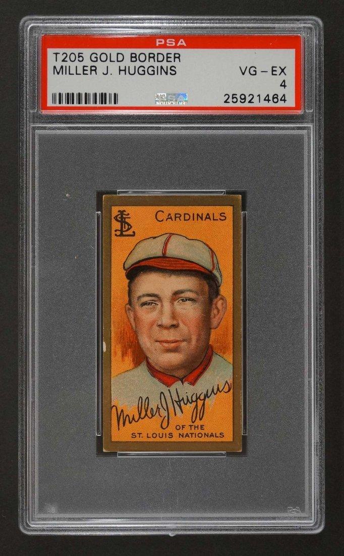 1911 T205 Gold Border Miller Huggins (PSA 4)