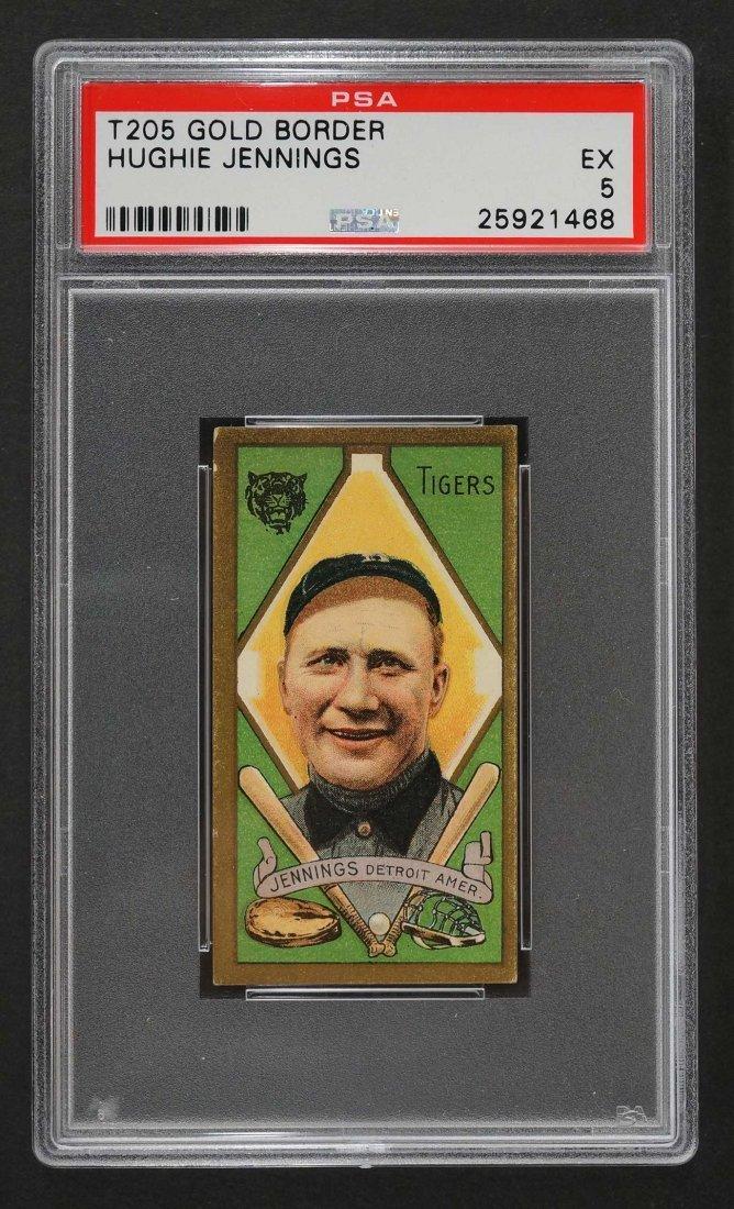 1911 T205 Gold Border Hughie Jennings (PSA 5)