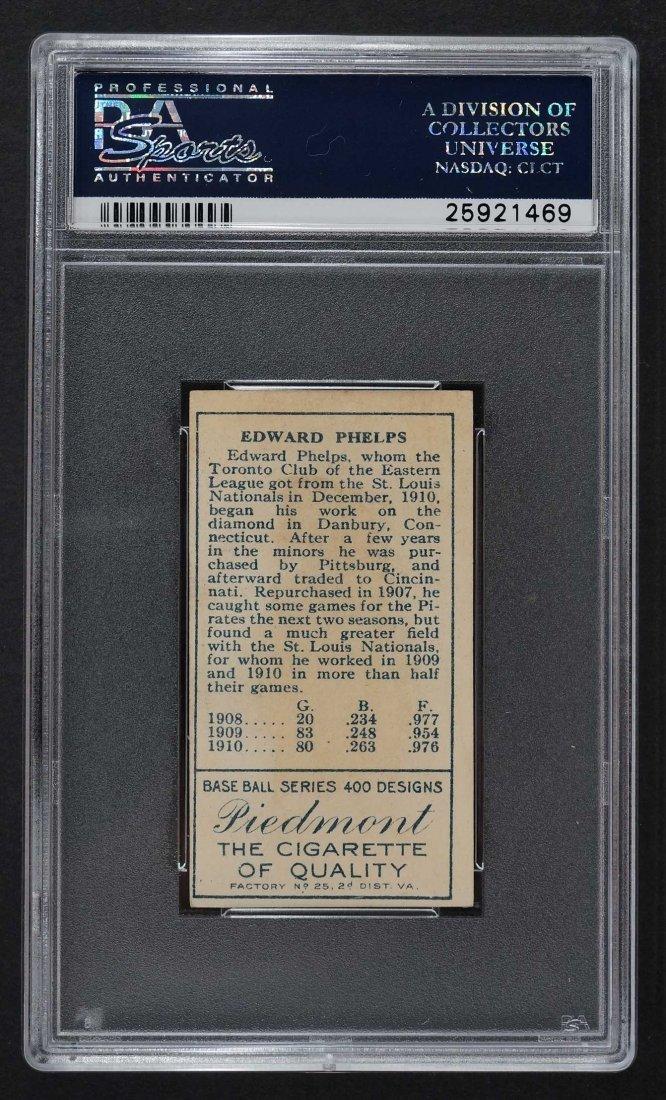 1911 T205 Gold Border E.J. Phelps (PSA 2) Provenance: - 2