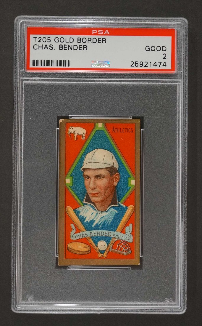 1911 T205 Gold Border Chas. Bender (PSA 3) Provenance:
