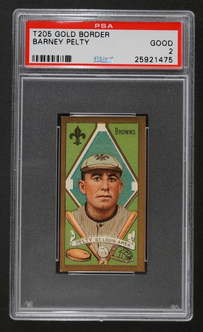 1911 T205 Gold Border Barney Pelty (PSA 2) Provenance: