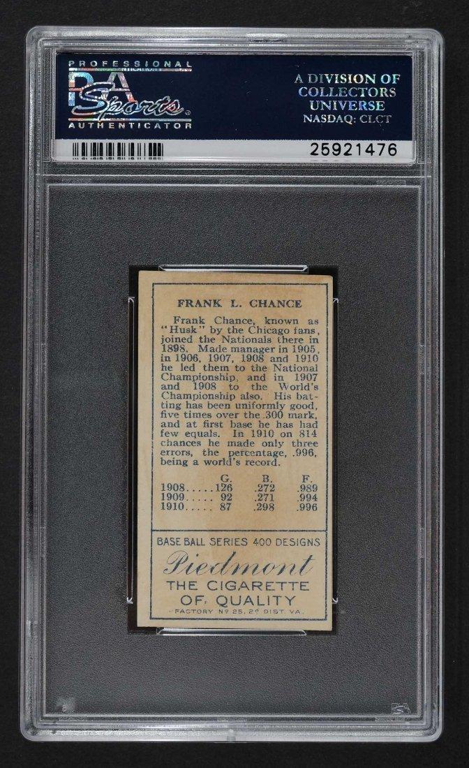 1911 T205 Gold Border Frank Chance (PSA 2) Provenance: - 2