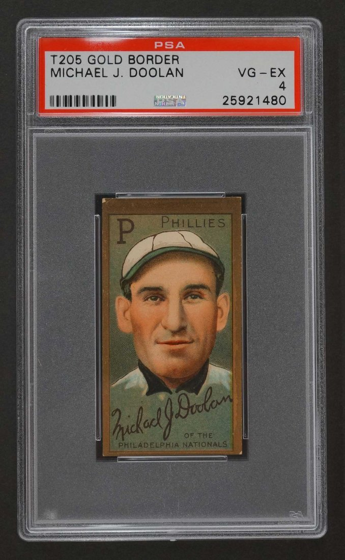 1911 T205 Gold Border Michael Doolan (PSA 4)