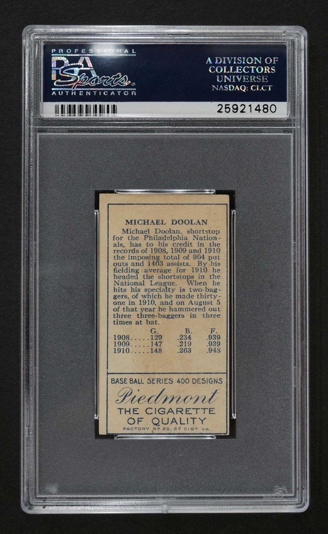 1911 T205 Gold Border Michael Doolan (PSA 4) - 2