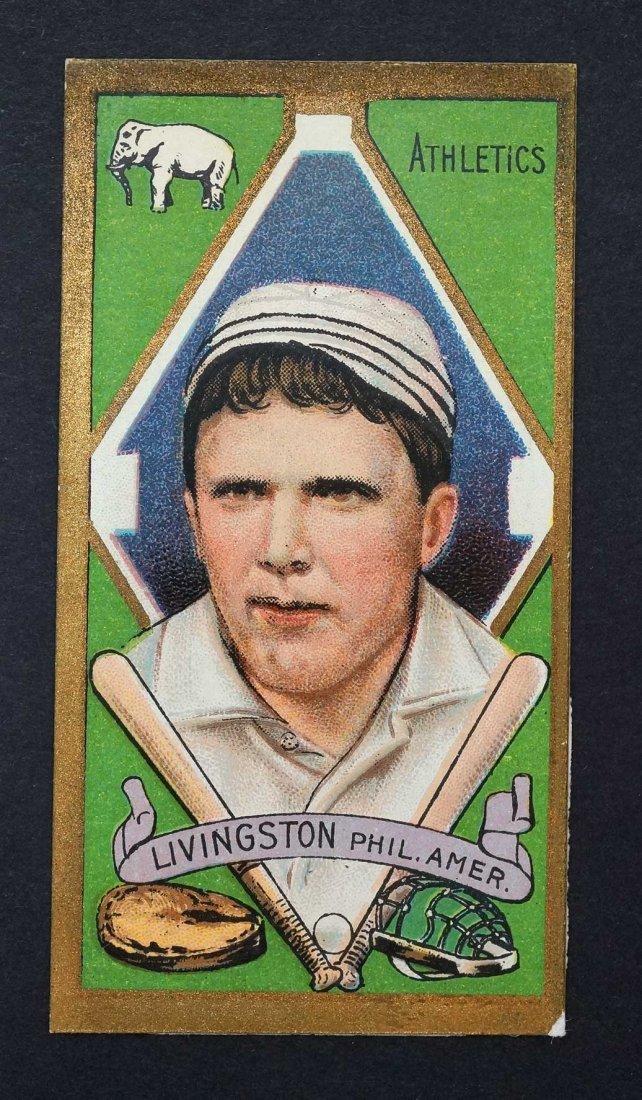 1911 T205 Gold Border Paddy Livingston. Clean, sharp