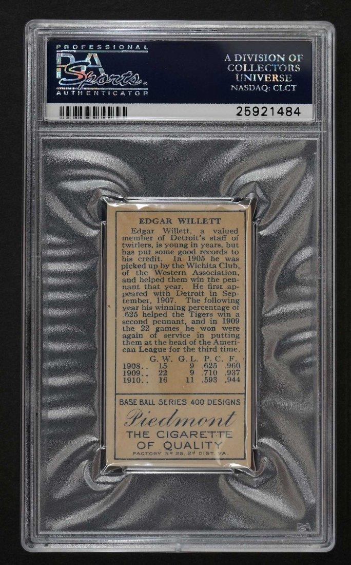 1911 T205 Gold Border Ed Willwett (PSA 2) Provenance: - 2