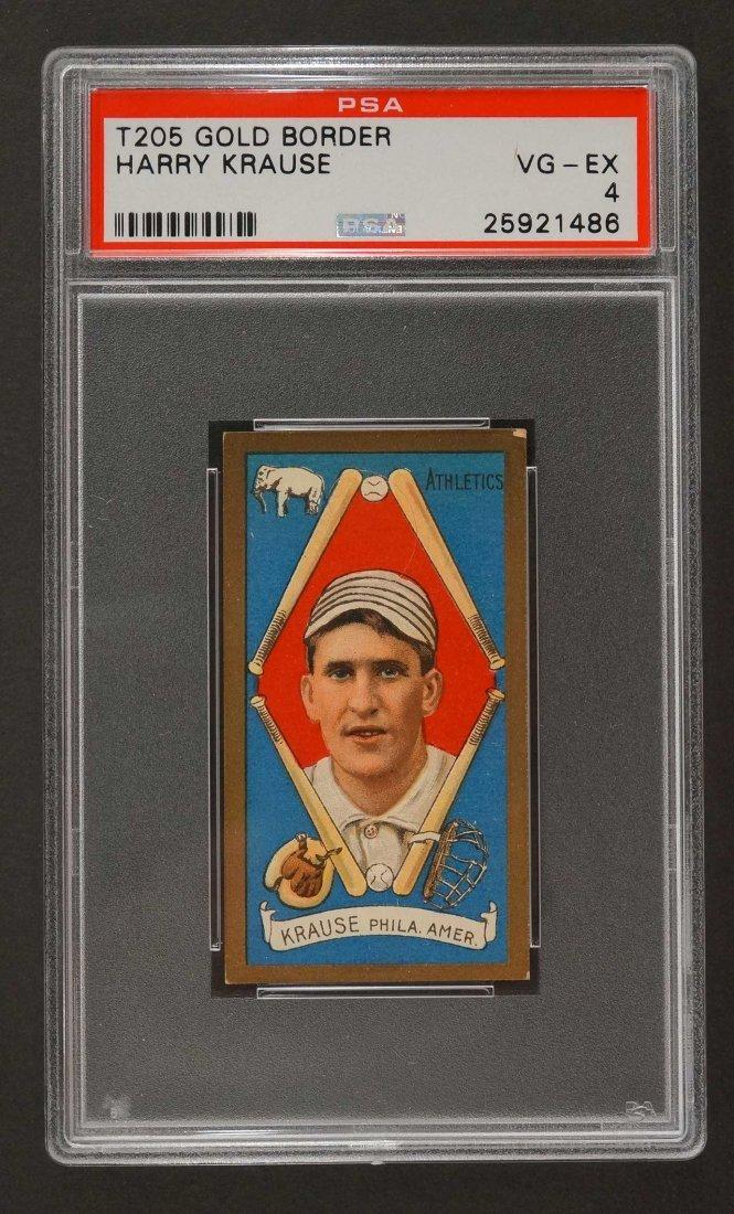 1911 T205 Gold Border Harry Krause (PSA 4) Provenance: