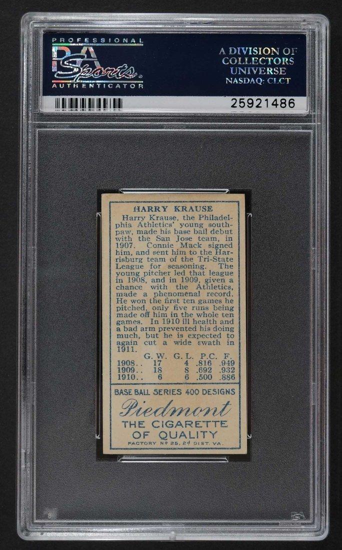 1911 T205 Gold Border Harry Krause (PSA 4) Provenance: - 2