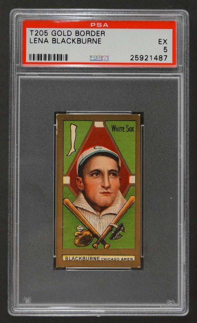 1911 T205 Gold Border Lena Blackburne (PSA 5)