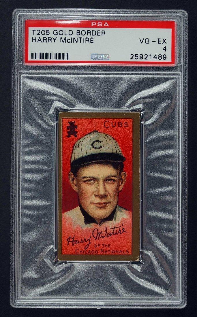 1911 T205 Gold Border Harry McIntire (PSA 4)