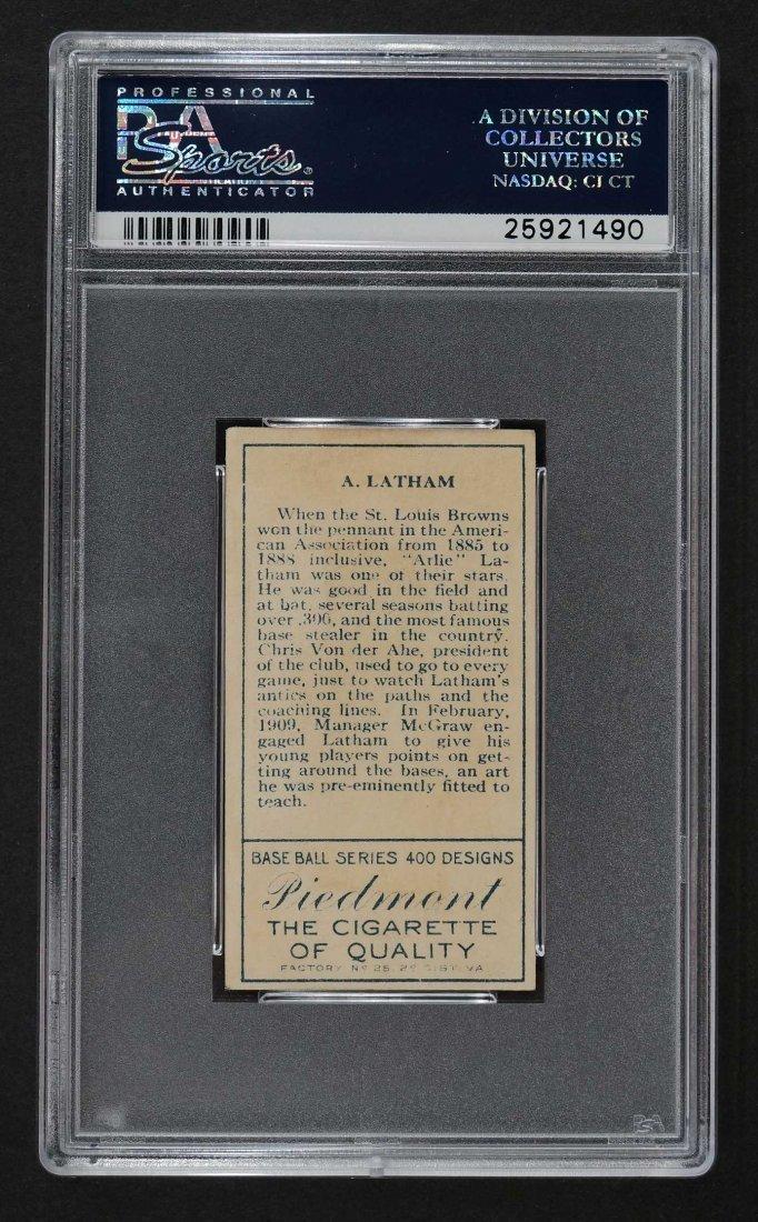 1911 T205 Gold Border A. Latham A. Latham Back (PSA 5) - 2