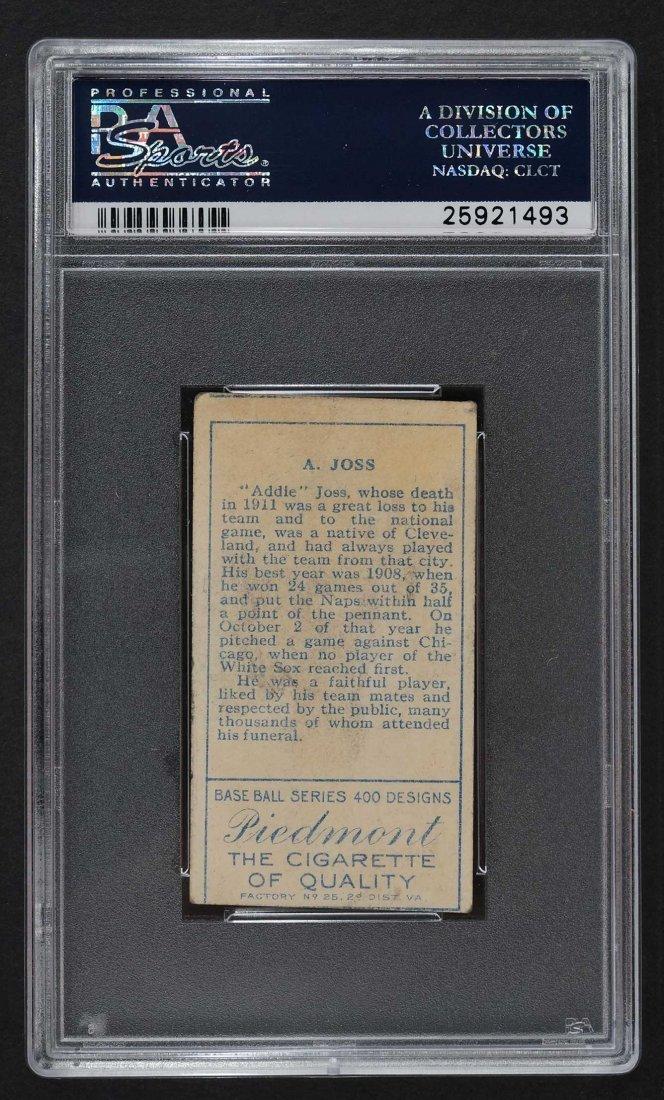 1911 T205 Gold Border Addie Joss (PSA 2) Provenance: - 2