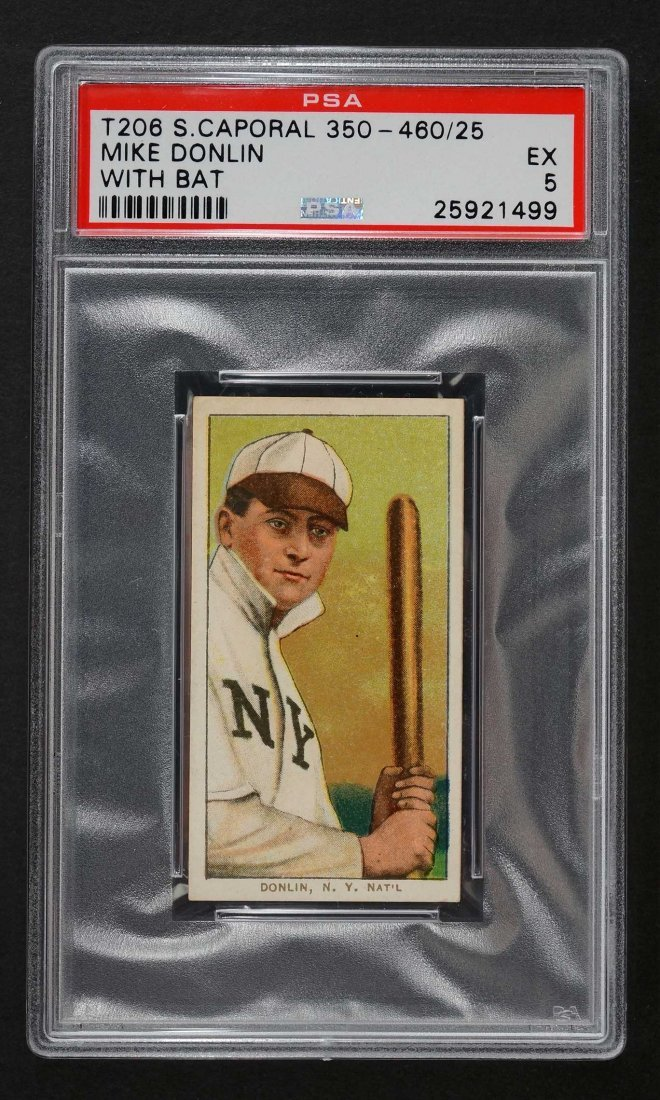1909-11 T206 Sweet Caporal 350-460/25 Mike Donlin With