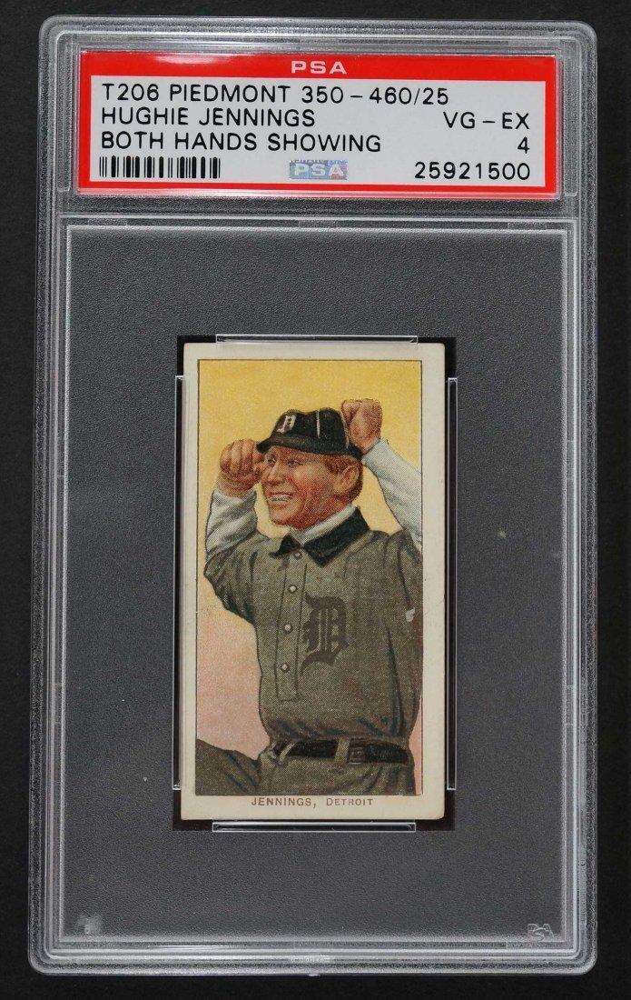 1909-11 T206 Piedmont Hughie Jennings Both Hands