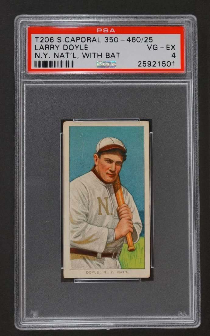 1909-11 T206 Sweet Caporal Larry Doyle N.Y. Nat'l, With