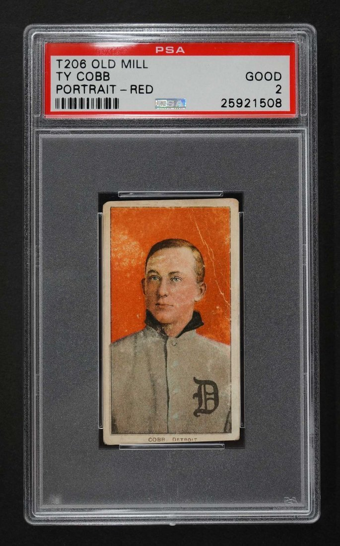 1909-11 T206 Old Mill Ty Cobb Portrait-Red (PSA 2)