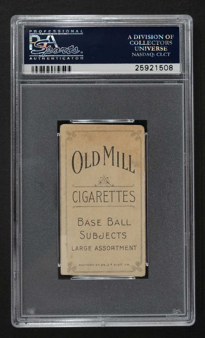 1909-11 T206 Old Mill Ty Cobb Portrait-Red (PSA 2) - 2