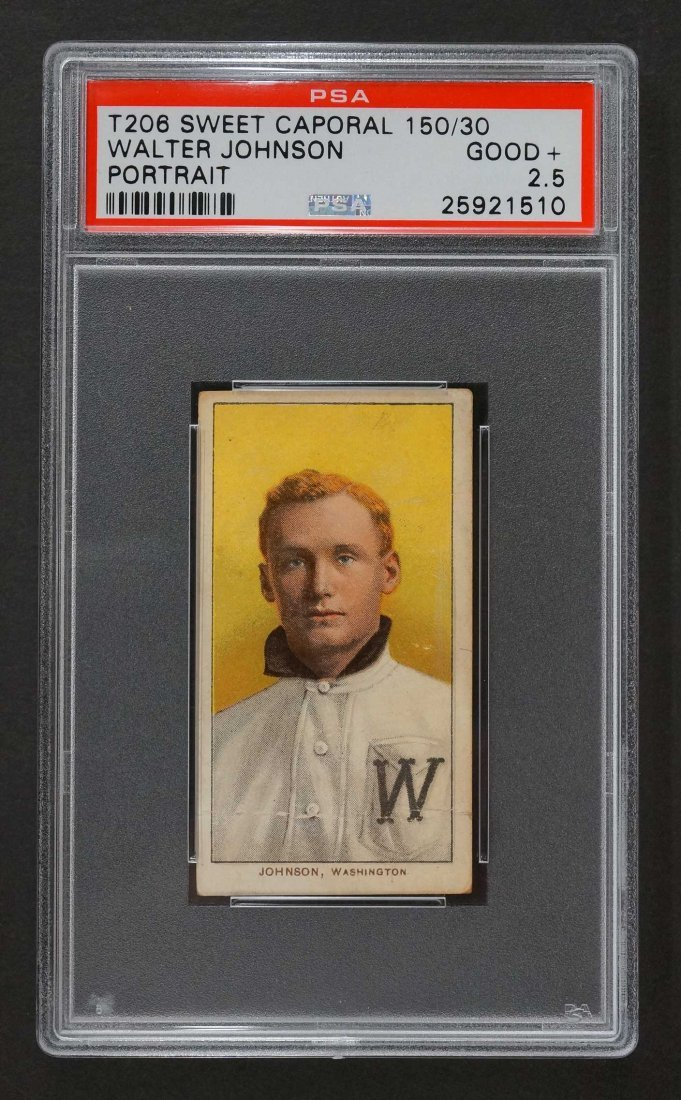 1909-11 T206 Sweet Caporal Walter Johnson 150/25 Walter