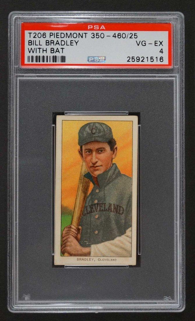 1909-11 T206 Piedmont 350-460/25 Bill Bardley With Bat