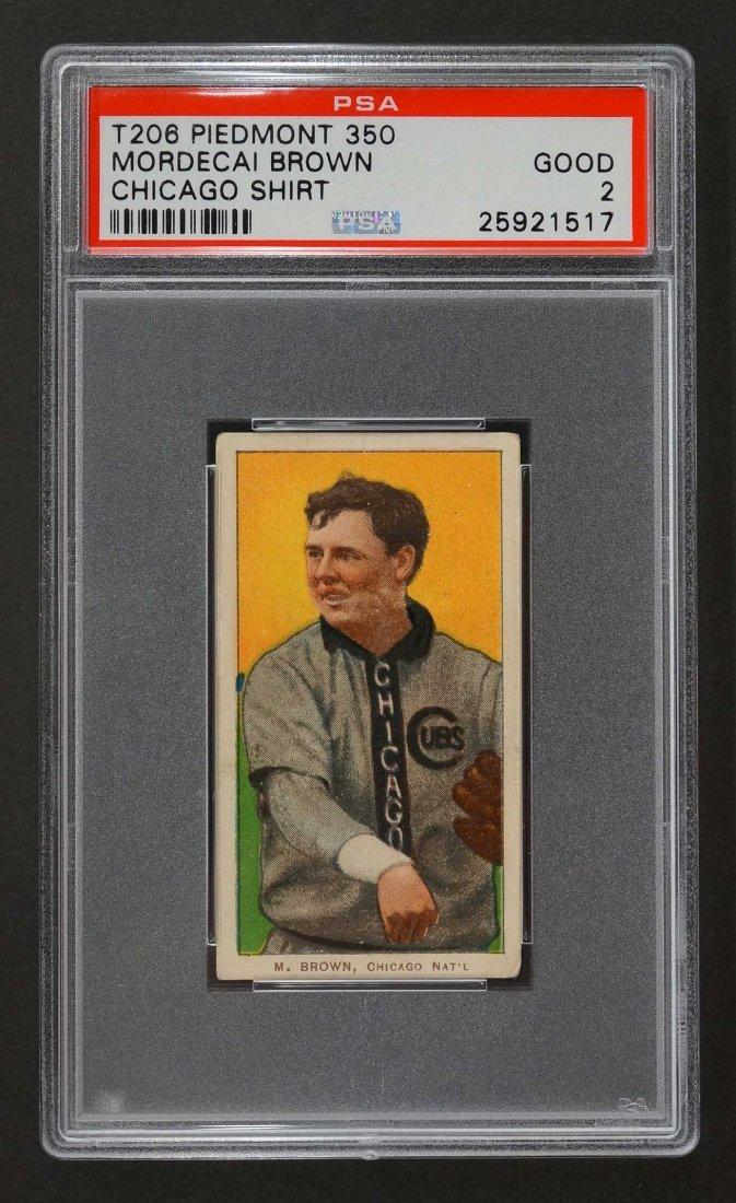 1909-11 T206 Piedmont 350 Mordecai Brown Chicago Shirt