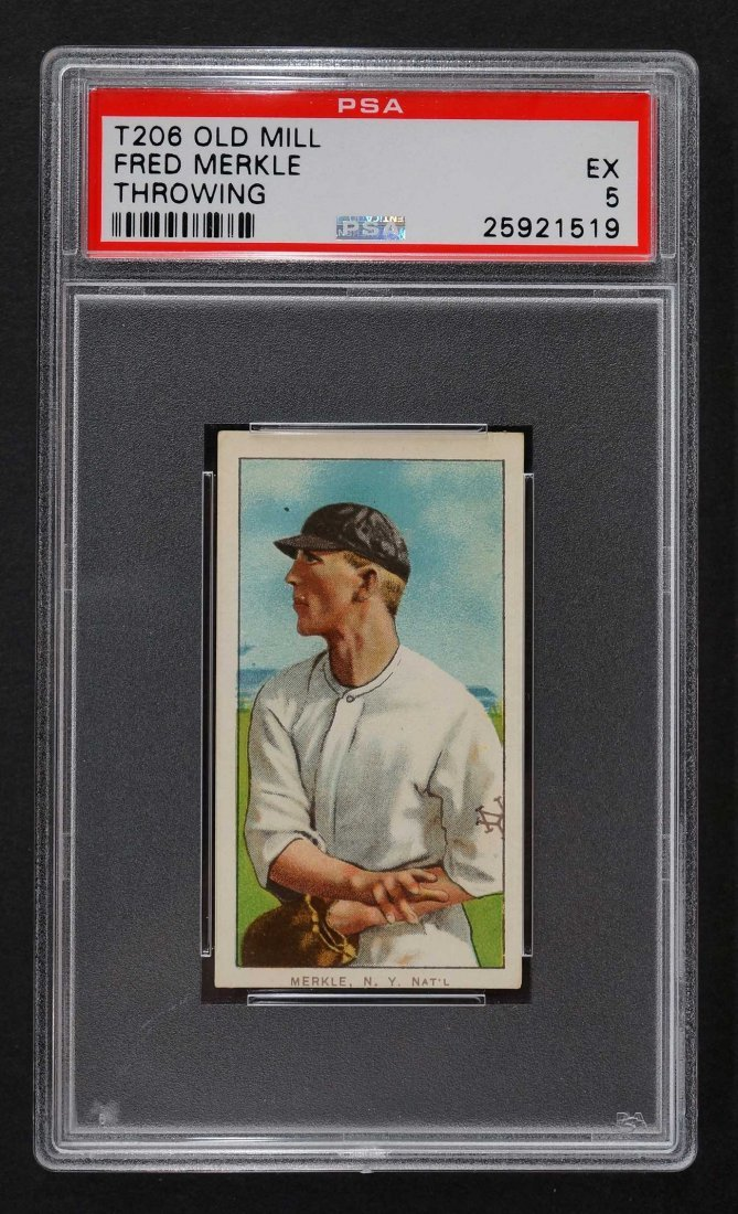 1909-11 T206 Old Mill Fred Merkle Throwing (PSA 5)