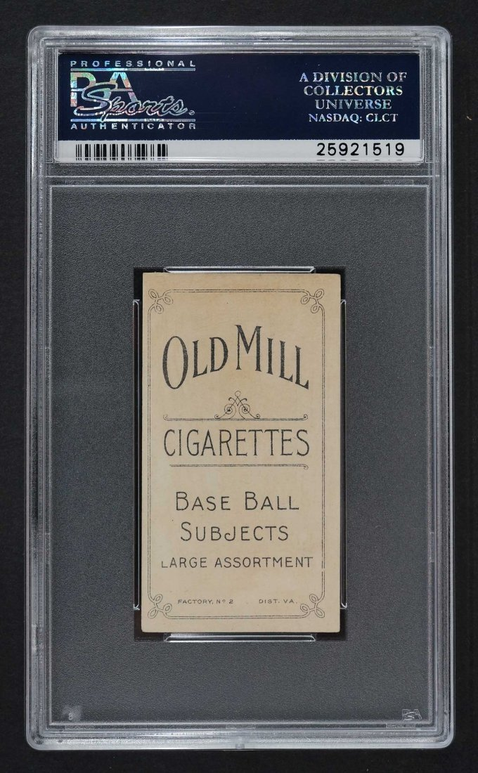 1909-11 T206 Old Mill Fred Merkle Throwing (PSA 5) - 2