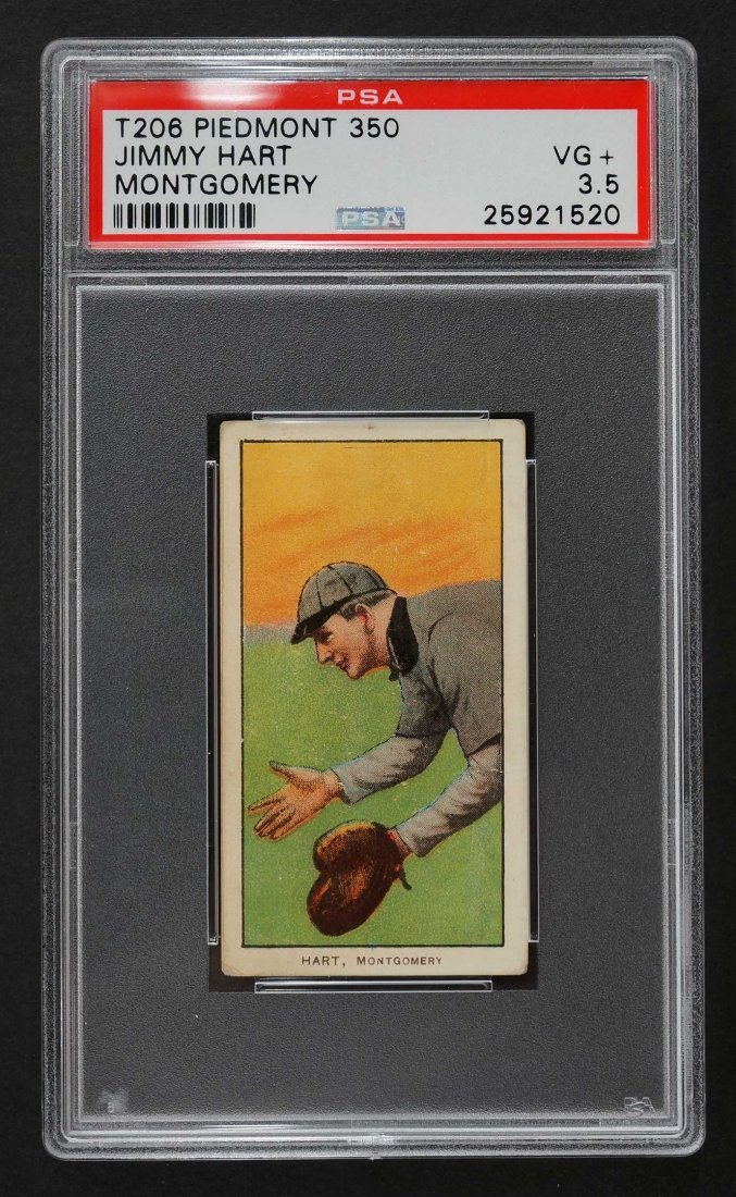 1909-11 T206 Piedmont 350 Jimmy Hart Montgomery (PSA